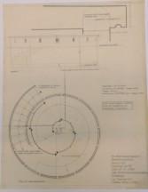 En af tegningerne på Danmarks Kunstbiblioteks Samling af Arkitekturtegninger. Find tegningen i god kvalitet på bibliotekets hjemmeside. Foto NL